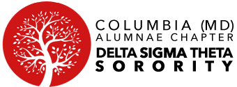 Columbia (MD) Alumnae Chapter Delta Sigma Theta Sorority - logo black